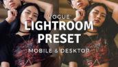 پریست لایت روم دسکتاپ و موبایل مد روز Vogue Lightroom Preset