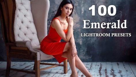100 پریست لایت روم سینمایی پرتره زمرد سبز Emerald LIGHTROOM PRESETS