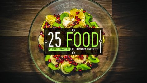 25 پریست لایت روم مخصوص عکس غذا Food Photography Lightroom Presets