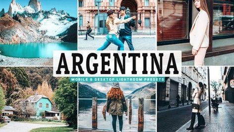 34 پریست لایت روم و Camera Raw تم آرژانتین Argentina Mobile And Desktop Lightroom Presets