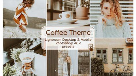 4 پریست لایت روم دسکتاپ و موبایل تم قهوه Coffee Theme Lightroom Presets