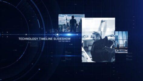 اسلایدشو افتر افکت با موزیک تاریخچه تایم لاین شرکت Technology Timeline Slideshow