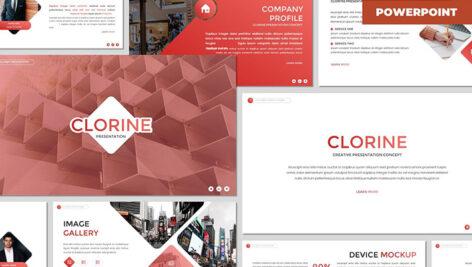 تم پاورپوینت تجارت و اقتصاد Clorine Multipurpose Powerpoint Template