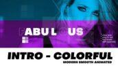 پروژه آماده افتر افکت با موزیک وله مدرن رنگی Intro Modern and Colorful