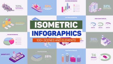 پروژه افتر افکت ابزار اینفوگرافیک Isometric Infographics