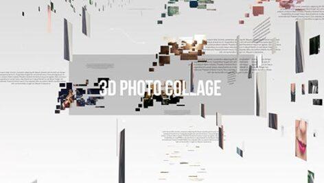 پروژه افتر افکت اسلایدشو 3 بعدی با موزیک 3D Photo Gallery