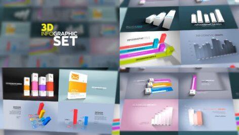 پروژه افتر افکت اینفوگرافیک 3 بعدی 3D Infographics Set