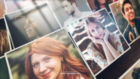 پروژه افتر افکت با موزیک اسلایدشو افکت موزائیک Mosaic Photo Reveal