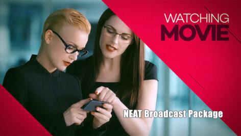 پروژه افتر افکت با موزیک اعلام برنامه تلویزیون NEAT Broadcast Package