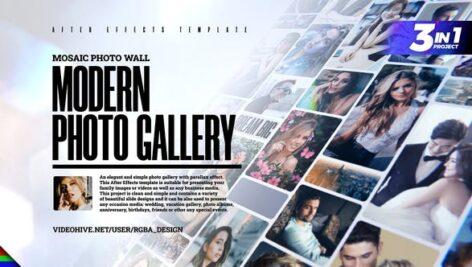 پروژه افتر افکت با موزیک گالری عکس افکت موزائیک Mosaic Photo Gallery