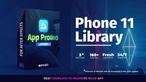 پروژه افتر افکت تبلیغات موبایل رزولوشن 4K با موزیک App Promo Phone