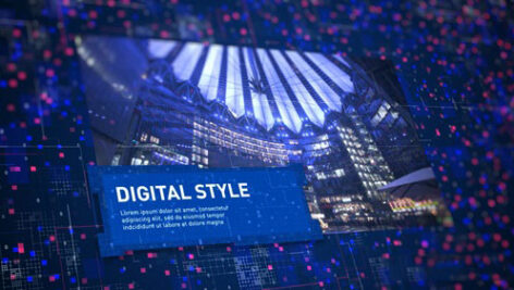 پروژه افتر افکت معرفی شرکت و محصولات Digital Corporate