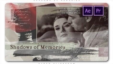 پروژه پریمیر با موزیک آلبوم خاطرات Shadows of Memories Album Slideshow