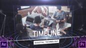 پروژه پریمیر معرفی شرکت بصورت تایم لاین با موزیک Digital Techonology Timeline
