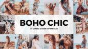 پریست لایت روم حرفه ای دسکتاپ و موبایل و لات رنگی Boho Chic Lightroom Presets and LUTs