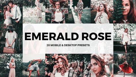 پریست لایت روم حرفه ای و لات رنگی Emerald Rose Lightroom Presets and LUTs