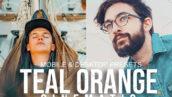 پریست لایت روم دسکتاپ و موبایل تم نارنجی سینمایی TEAL ORANGE CINEMATIC Presets