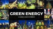 پریست لایت روم و لات رنگی انرژی سبز Green Energy Lightroom Presets