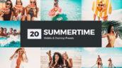 پریست لایت روم و پریست کمرا راو و لات رنگی تابستانی Summertime Lightroom Presets LUTs