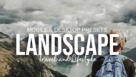 10 پریست لایت روم دسکتاپ و موبایل تم طبیعت و منظره LANDSCAPE Lightroom Presets