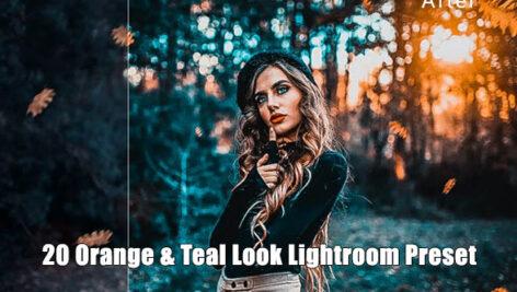 20 پریست لایت روم تم مایل به نارنجی Orange & Teal Look Lightroom Preset