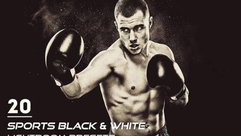 20 پریست لایت روم ورزشی تک رنگ Sports Black And White Presets