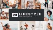 20 پریست لایت روم و پریست کمرا راو و لات رنگی Lifestyle Lightroom Presets LUTs