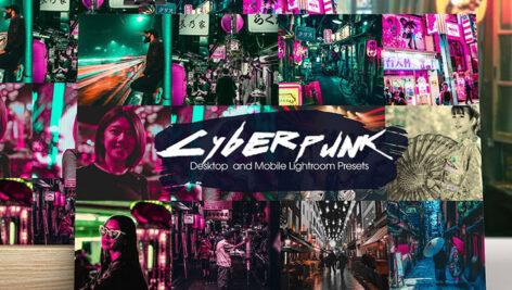 32 افکت رنگی لایت روم دسکتاپ و موبایل Cyberpunk Lightroom Presets