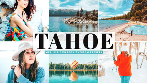 34 پریست لایت روم و پریست کمرا راو دریاچه تاهو Tahoe Mobile & Desktop Lightroom Presets