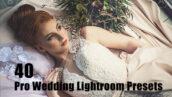 40 پریست لایت روم حرفه ای عروس Pro Wedding Lightroom Presets