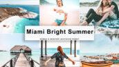 90 پریست لایت روم و پریست کمرا راو و لات رنگی Miami Bright Summer Photo Filters