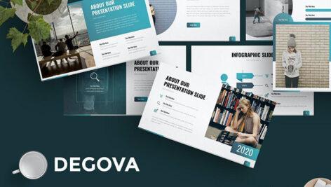تم آماده پاورپوینت حرفه ای Degova Presentation Template