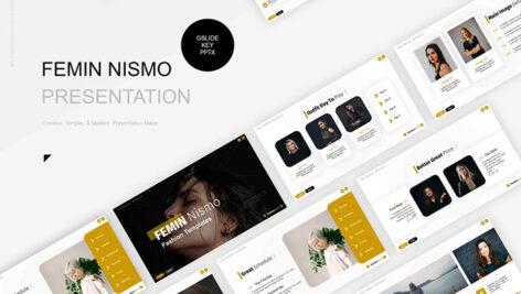 تم پاورپوینت و گوگل اسلایدر Femin Nismo Presentation Template