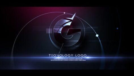 پروژه آماده افتر افکت با موزیک لوگو افکت گلیچ Glitch Tech Logo