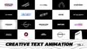 پروژه آماده پریمیر تایتل فیلم Creative Text Animation Premiere Pro