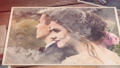 پروژه افتر افکت با موزیک اسلایدشو عروسی تم نقاشی Romantic Sketches