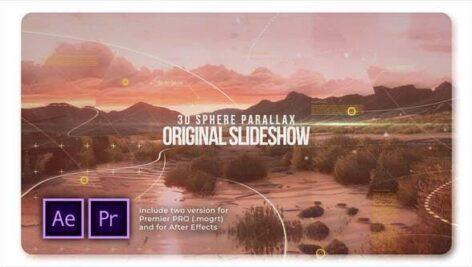 پروژه پریمیر اسلایدشو با موزیک افکت 3 بعدی پارالاکس 3D Sphere Original Parallax Slideshow