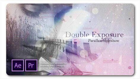 پروژه پریمیر اسلایدشو با موزیک دابل اکسپوژر پارالاکس Double Exposure Parallax Slideshow