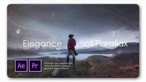 پروژه پریمیر اسلایدشو با موزیک پارالاکس مدرن Elegance of Parallax Slideshow