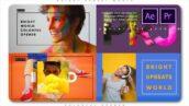 پروژه پریمیر اسلایدشو رنگارنگ با موزیک Bright Upbeat World Colorful Opener