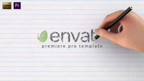 پروژه پریمیر با موزیک لوگو افکت طراحی دستی رنگی Drawing Logo Premiere Pro