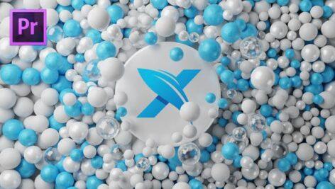 پروژه پریمیر با موزیک لوگو گوی 3 بعدی Balls Logo Reveal 3D