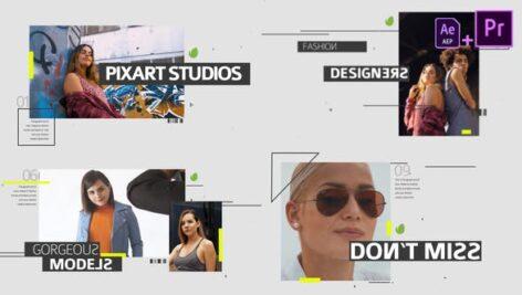 پروژه پریمیر وله بسیار زیبا با موزیک Fashion Media Opener Mogrt