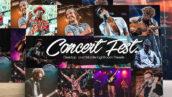 پریست لایتروم دسکتاپ و موبایل تم کنسرت شبانه Concert Night Lightroom Presets