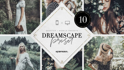 پریست لایت روم دسکتاپ و موبایل تم رویایی Dreamscape Lightroom Presets Bundle
