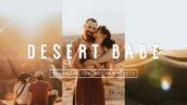 پریست لایت روم دسکتاپ و موبایل تم صحرا Warm Vibrant DESERT BABE LR Presets