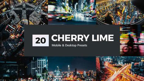 پریست لایت روم و پریست کمرا راو و لات رنگی تم گیلاس Cherry Lime LR Presets
