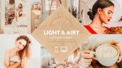 10 پریست لایت روم دسکتاپ و موبایل Light and Airy Warm Lightroom Preset