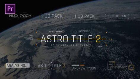 20 تایتل آماده پریمیر رزولوشن 4K افکت مدرن Astro Title