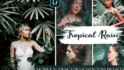 20 پریست لایت روم حرفه ای باران گرمسیری Tropical Rain Ligthroom Mobile & Desktop Presets